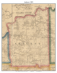 Amherst, New York 1855 Old Town Map Custom Print - Erie Co.