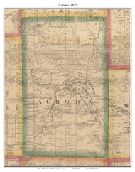 Aurora, New York 1855 Old Town Map Custom Print - Erie Co.