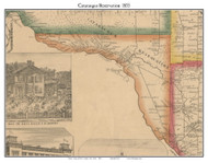 Cataraugus Reservation, New York 1855 Old Town Map Custom Print - Erie Co.