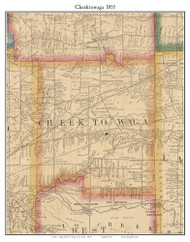 Cheektowaga, New York 1855 Old Town Map Custom Print - Erie Co.