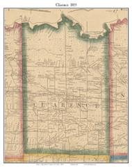 Clarence, New York 1855 Old Town Map Custom Print - Erie Co.