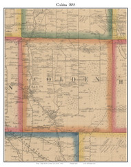 Colden, New York 1855 Old Town Map Custom Print - Erie Co.