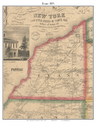 Evans, New York 1855 Old Town Map Custom Print - Erie Co.