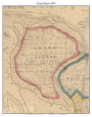 Grand Island, New York 1855 Old Town Map Custom Print - Erie Co.