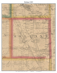 Holland, New York 1855 Old Town Map Custom Print - Erie Co.