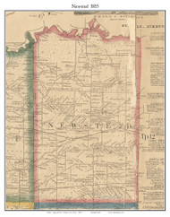 Newsted, New York 1855 Old Town Map Custom Print - Erie Co.