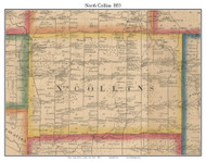 North Collins, New York 1855 Old Town Map Custom Print - Erie Co.