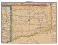Sardinia, New York 1855 Old Town Map Custom Print - Erie Co.