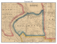 Tonawanda, New York 1855 Old Town Map Custom Print - Erie Co.