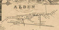 Alden Village, New York 1855 Old Town Map Custom Print - Erie Co.