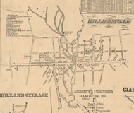 Williamsville, New York 1855 Old Town Map Custom Print - Erie Co.