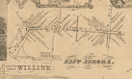 Willink & East Aurora, New York 1855 Old Town Map Custom Print - Erie Co.