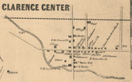 Clarence Center, New York 1855 Old Town Map Custom Print - Erie Co.