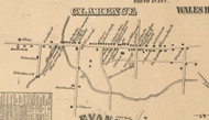 Clarence Village, New York 1855 Old Town Map Custom Print - Erie Co.