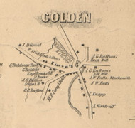 Colden Village, New York 1855 Old Town Map Custom Print - Erie Co.
