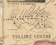 Collins Centre, New York 1855 Old Town Map Custom Print - Erie Co.