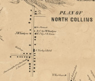 North Collins Village, New York 1855 Old Town Map Custom Print - Erie Co.