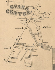Evans Centre, New York 1855 Old Town Map Custom Print - Erie Co.
