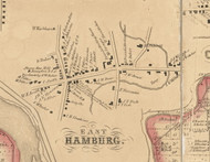 East Hamburg Village, New York 1855 Old Town Map Custom Print - Erie Co.