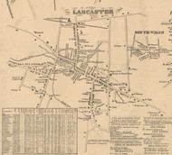 Lancaster Village, New York 1855 Old Town Map Custom Print - Erie Co.