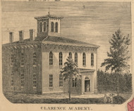 Clarence Academy, New York 1855 Old Town Map Custom Print - Erie Co.