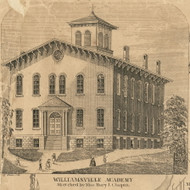 Williamsville Academy, New York 1855 Old Town Map Custom Print - Erie Co.