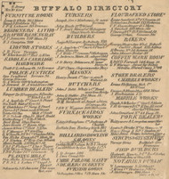 Buffalo Directory Part 1, New York 1855 Old Town Map Custom Print - Erie Co.