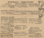 Buffalo Directory Part 3, New York 1855 Old Town Map Custom Print - Erie Co.