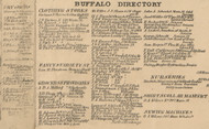 Buffalo Directory Part 4, New York 1855 Old Town Map Custom Print - Erie Co.
