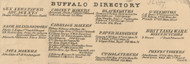 Buffalo Directory Part 5, New York 1855 Old Town Map Custom Print - Erie Co.