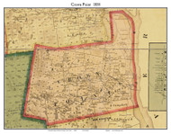 Crown Point, New York 1858 Old Town Map Custom Print - Essex Co.