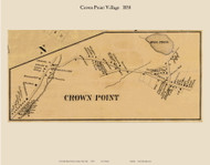 Crown Point Village, New York 1858 Old Town Map Custom Print - Essex Co.