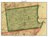 Essex, New York 1858 Old Town Map Custom Print - Essex Co.