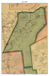 Jay, New York 1858 Old Town Map Custom Print - Essex Co.