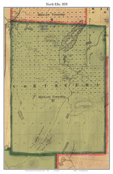 North Elba, New York 1858 Old Town Map Custom Print - Essex Co.
