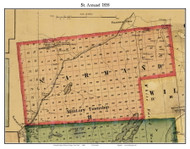 St. Armand, New York 1858 Old Town Map Custom Print - Essex Co.