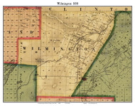 Wilmington, New York 1858 Old Town Map Custom Print - Essex Co.