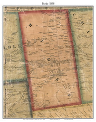 Burke, New York 1858 Old Town Map Custom Print - Franklin Co.