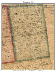 Chateaugay, New York 1858 Old Town Map Custom Print - Franklin Co.