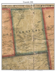 Constable, New York 1858 Old Town Map Custom Print - Franklin Co.