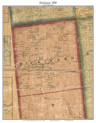 Dickinson, New York 1858 Old Town Map Custom Print - Franklin Co.