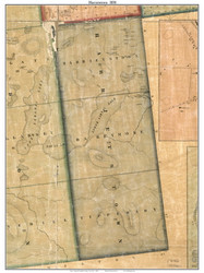 Barrymore & Tipperary, New York 1858 Old Town Map Custom Print - Franklin Co.