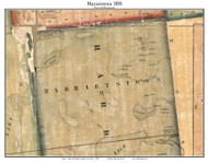 Harrietstown, New York 1858 Old Town Map Custom Print - Franklin Co.