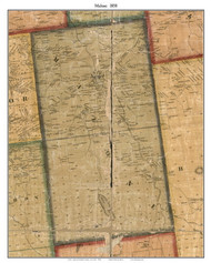 Malone, New York 1858 Old Town Map Custom Print - Franklin Co.