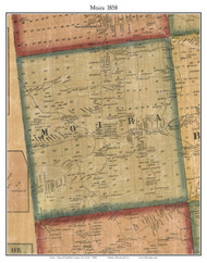 Moira, New York 1858 Old Town Map Custom Print - Franklin Co.