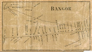 Bangor Village, New York 1858 Old Town Map Custom Print - Franklin Co.
