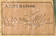 North Bangor, New York 1858 Old Town Map Custom Print - Franklin Co.