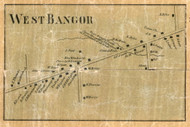 West Bangor, New York 1858 Old Town Map Custom Print - Franklin Co.