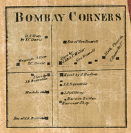 Bombay Corners, New York 1858 Old Town Map Custom Print - Franklin Co.