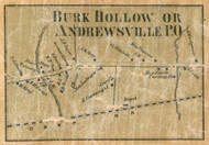 Burke Hollow & Andrewsville, New York 1858 Old Town Map Custom Print - Franklin Co.